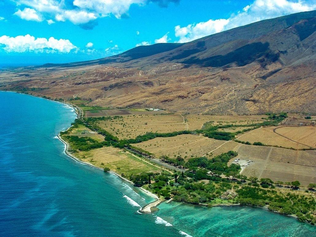 Aerial Helicopter Olowalu Maui