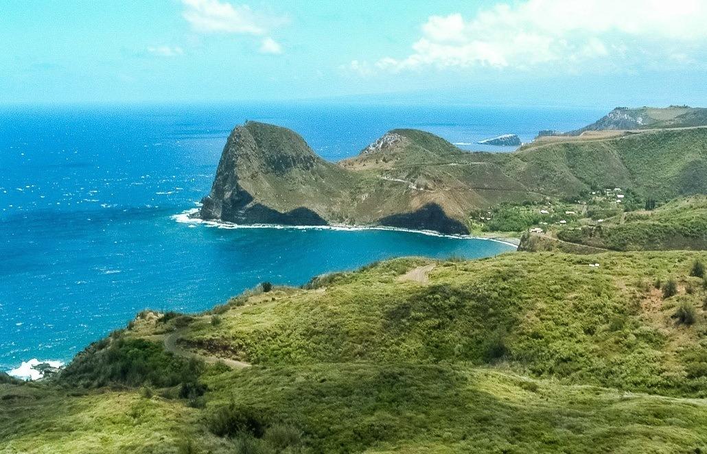 Aerial of Kahakuloa Maui Coastline