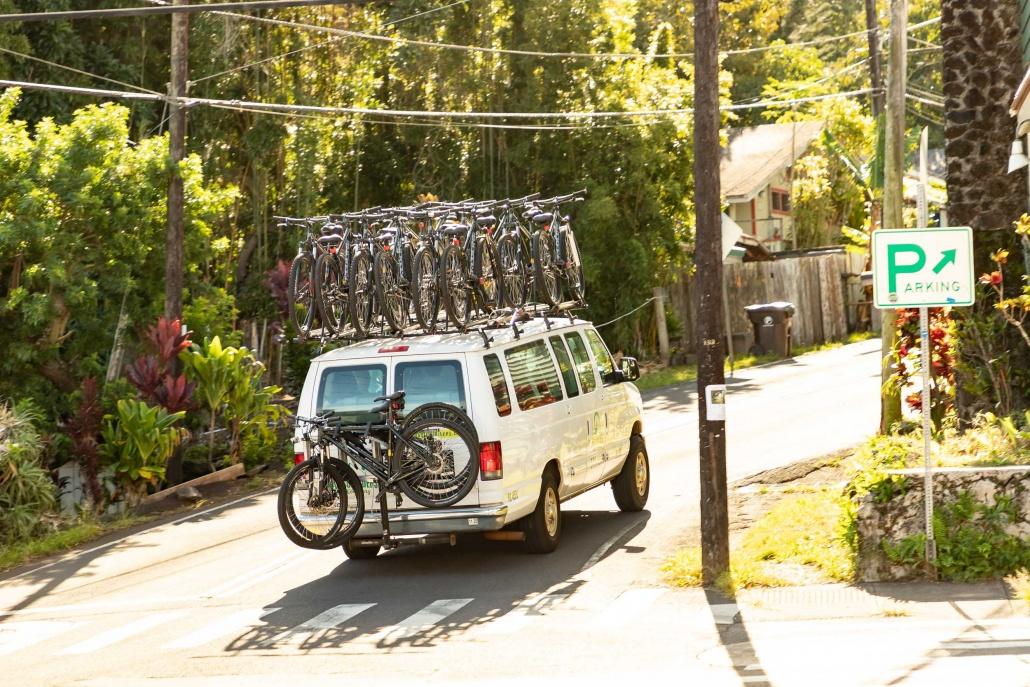 Biking Maui Tour Van Makawao