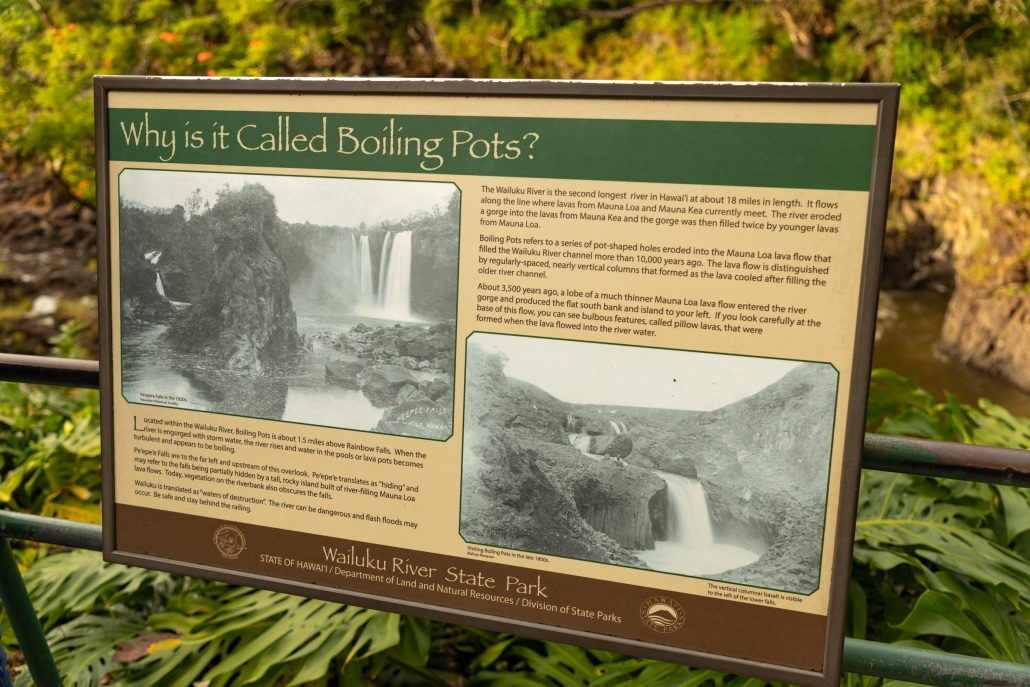 Boiling Pots Sign Hilo Big Island