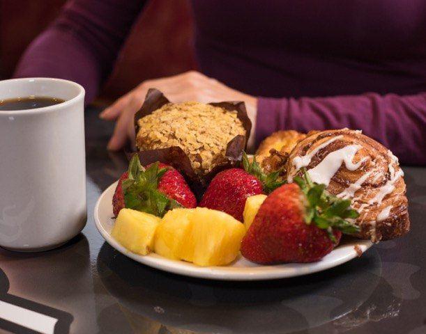 Hot Breakfast With Tea