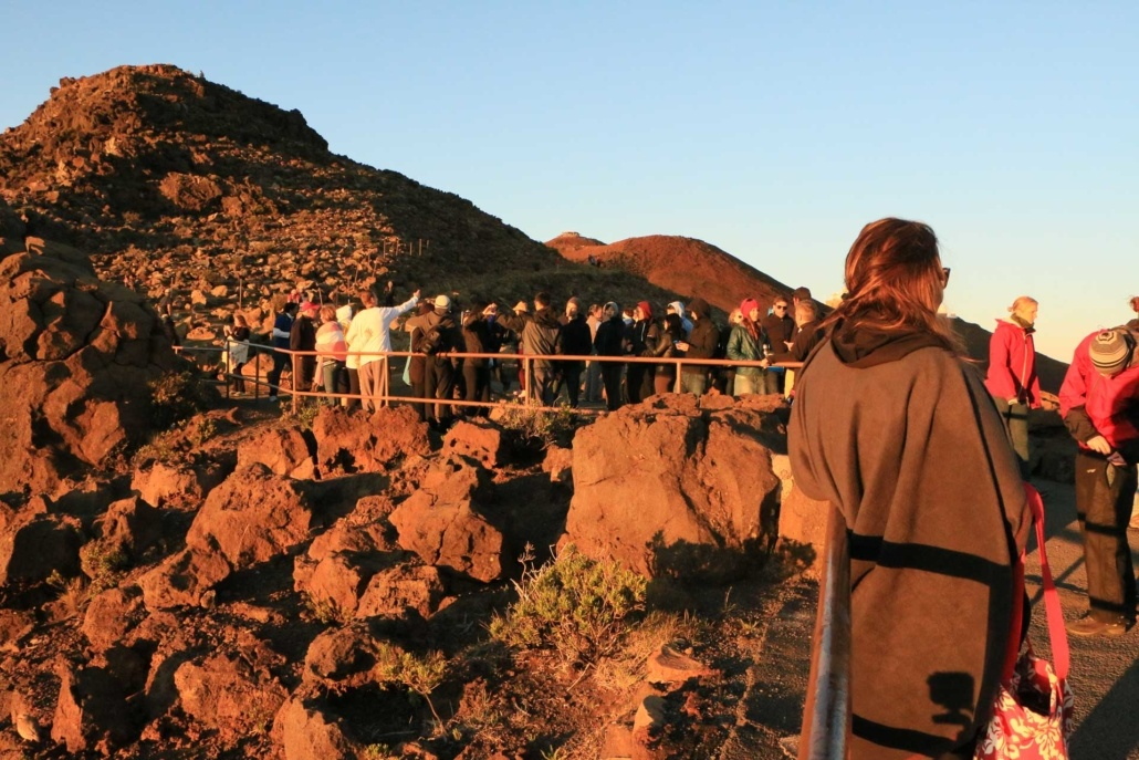 Haleakala Crater Sunrise Visitors