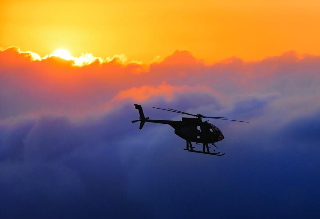 Helicopter Big IslandHawaii Sky Yellow