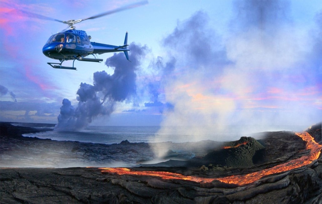 Helicopter Big IslandHawaii Steaming