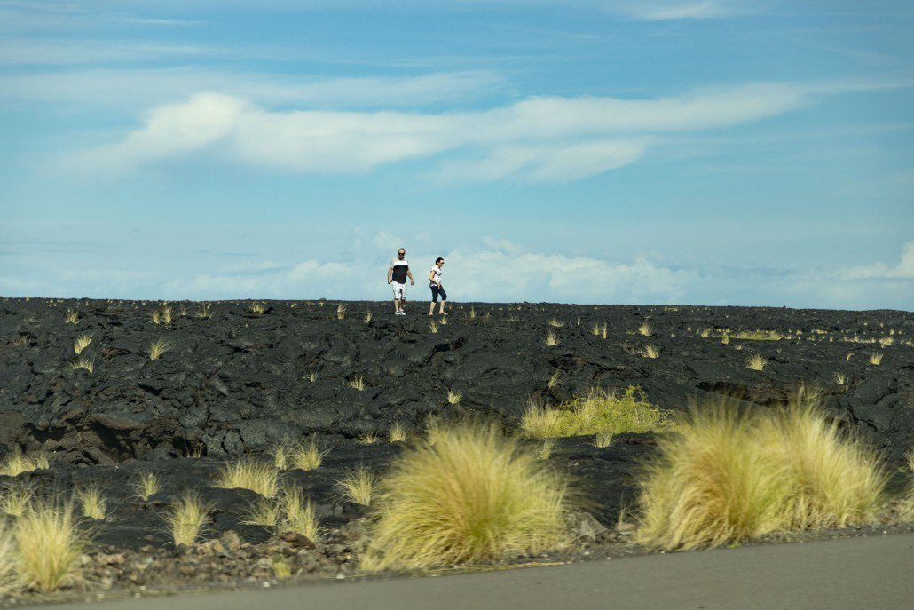Lava Field Hikers Big Island