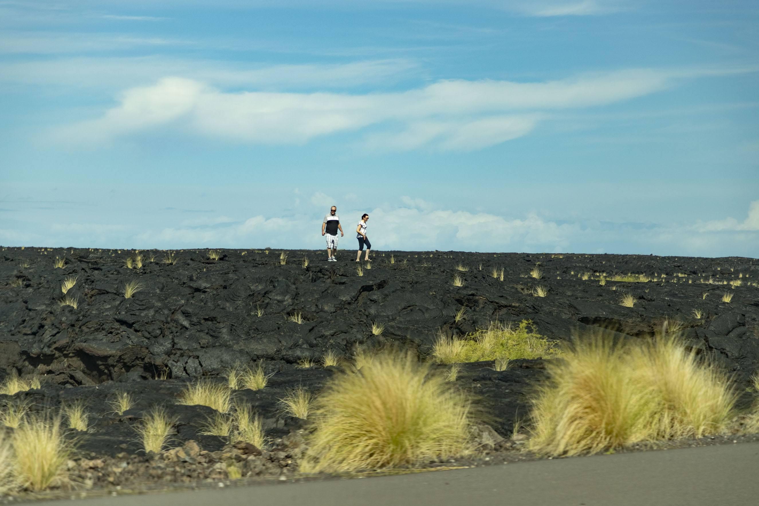 Lava Field Hikers Big Island