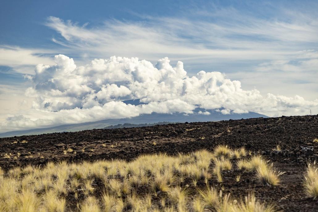 Lava Fields and Mountain Big Island