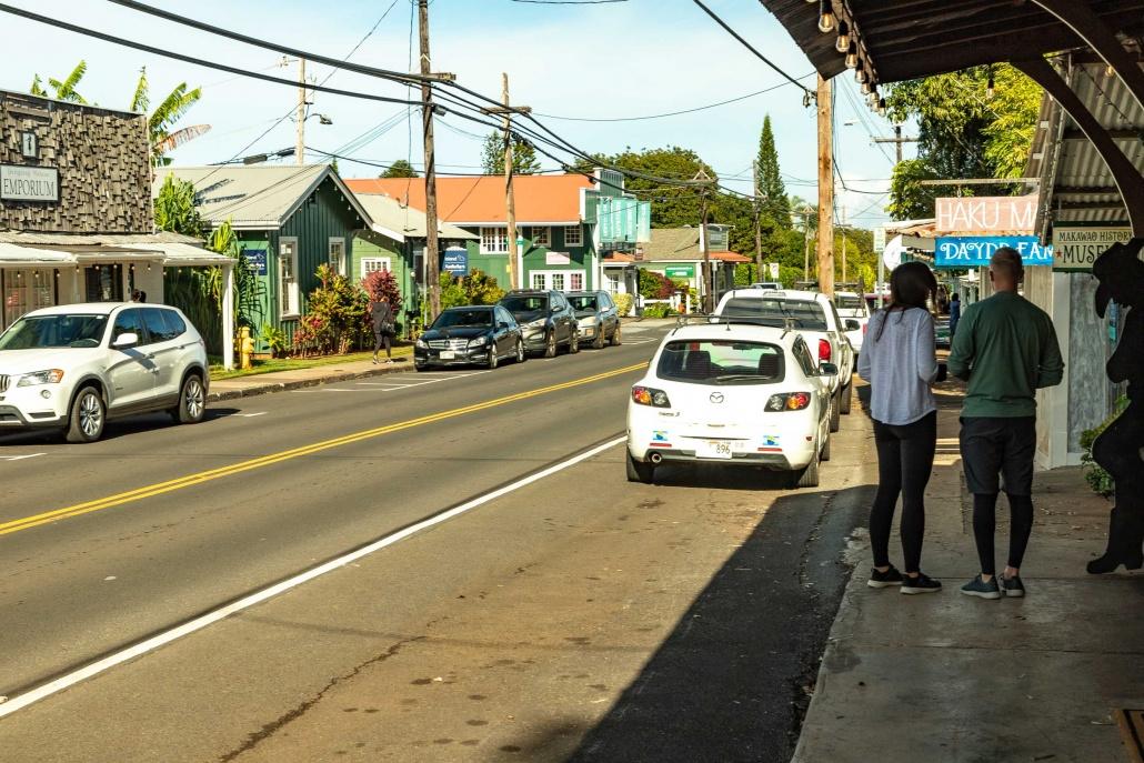 Makawao Town Walking Visitors Maui