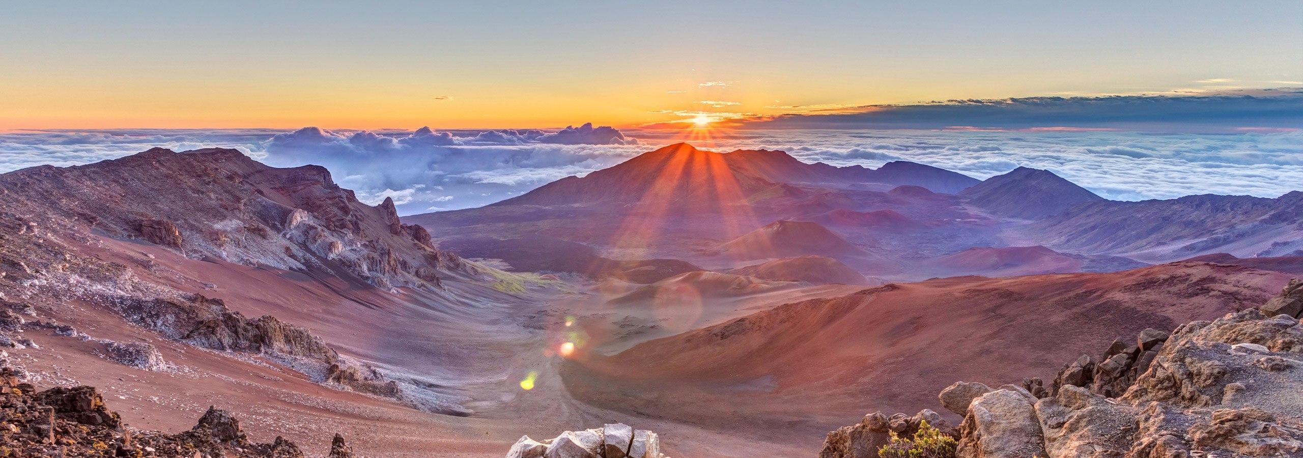 Maui Volcano Sunrise View Header