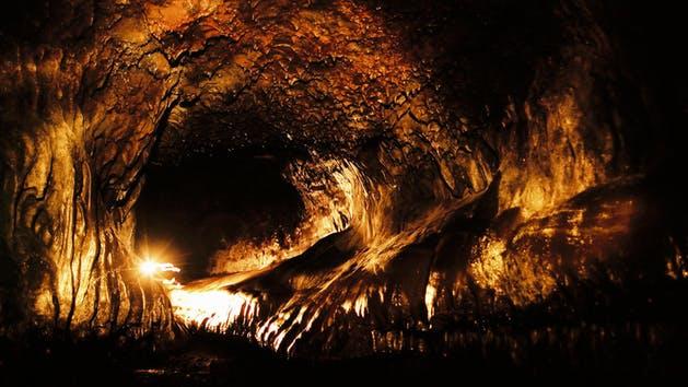 Inside of Lava Tubes