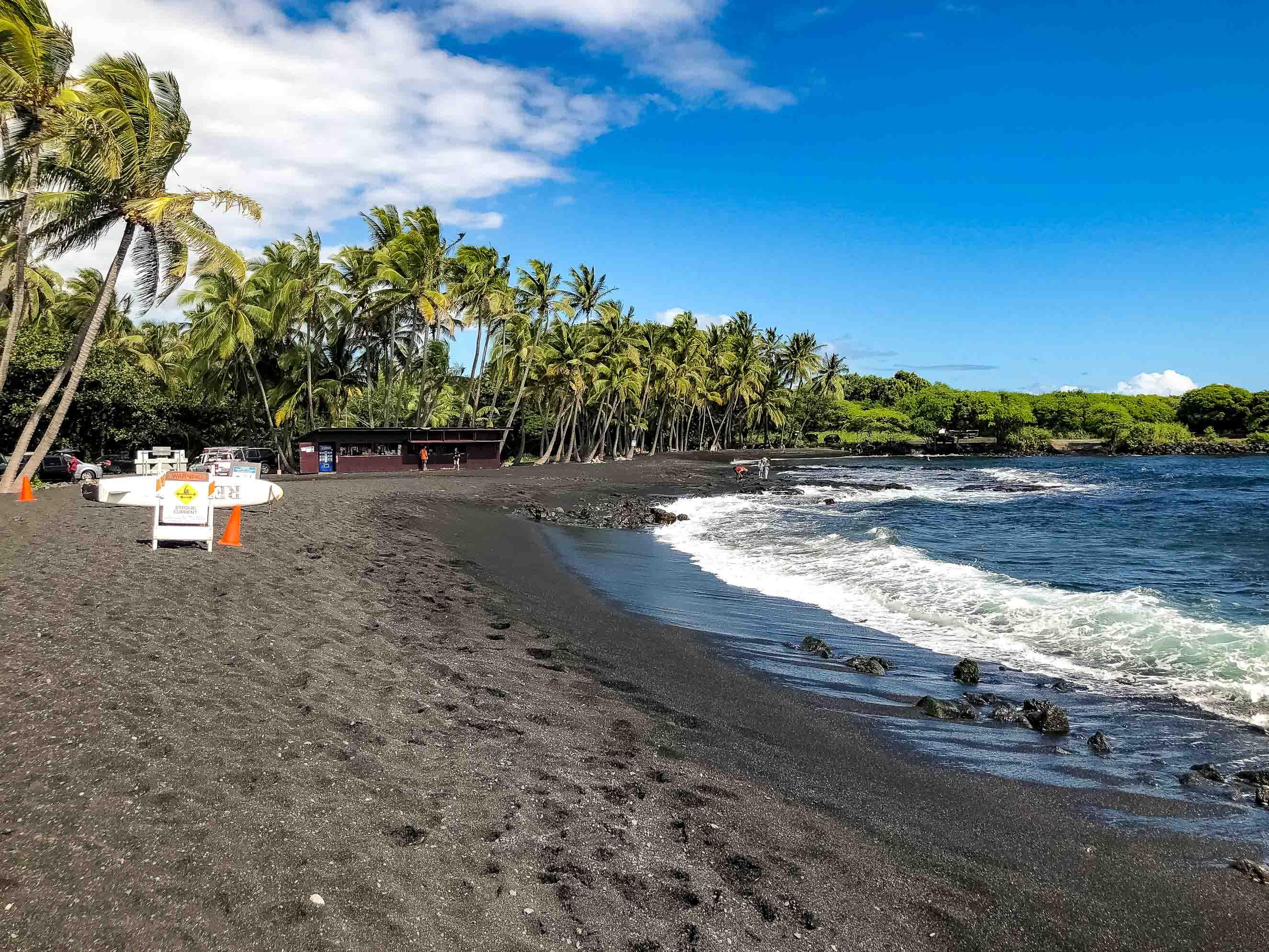 Punalu'u Black Sand Beach and Store Big Island