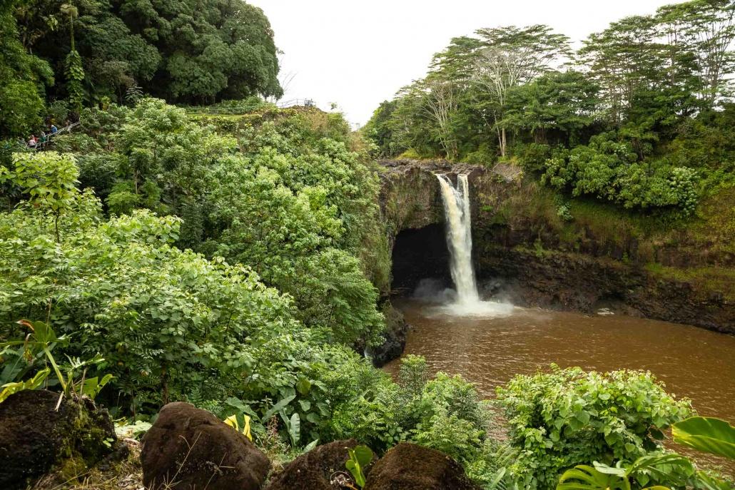 Rainbow Falls and Stairway Visitors Hilo Big Island