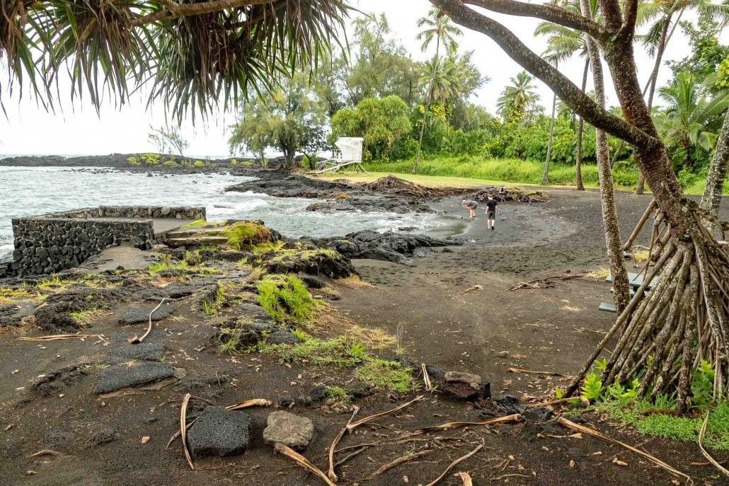 Richardson Black Sand Beach Park Hilo Big Island