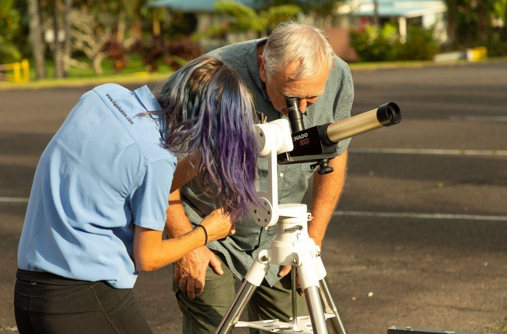 Solar telescope Guide and Visitor Big Island