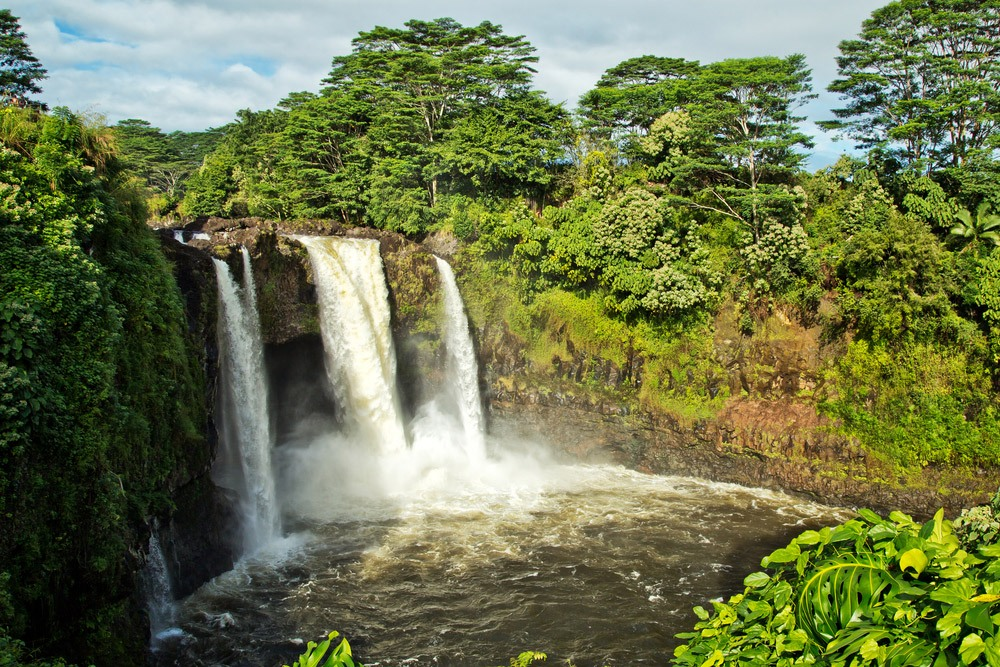 The Rainbow Waterfall in Hilo