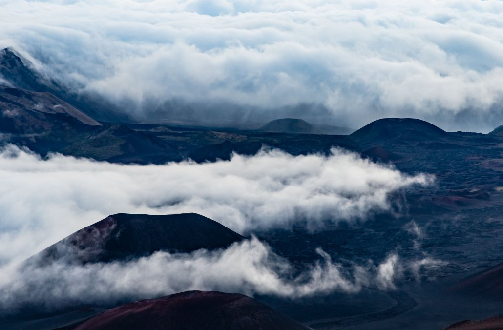 Haleakala Crater Clouds and Cinder Cones Maui