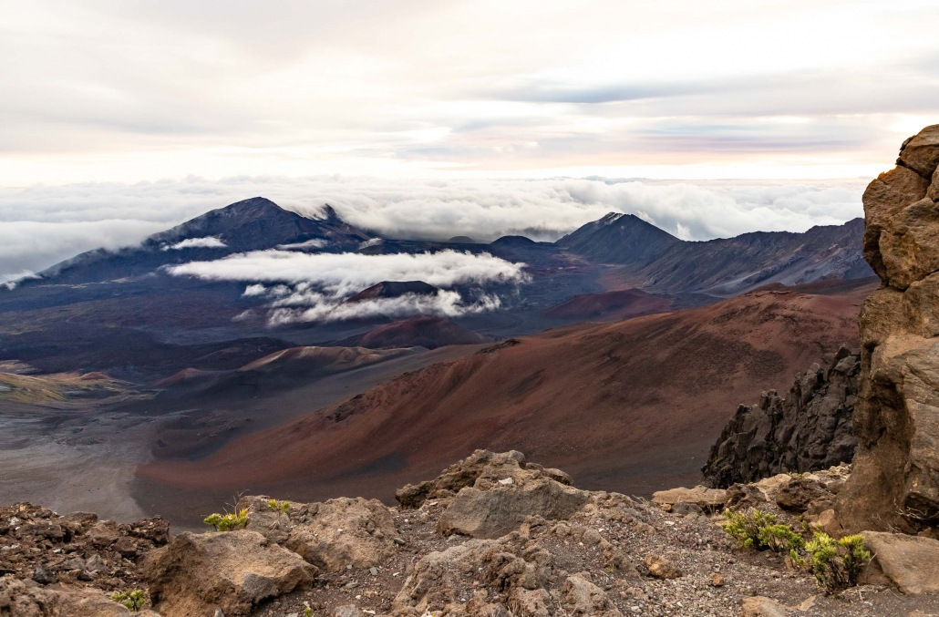 Haleakala Crater Clouds at Summit Maui