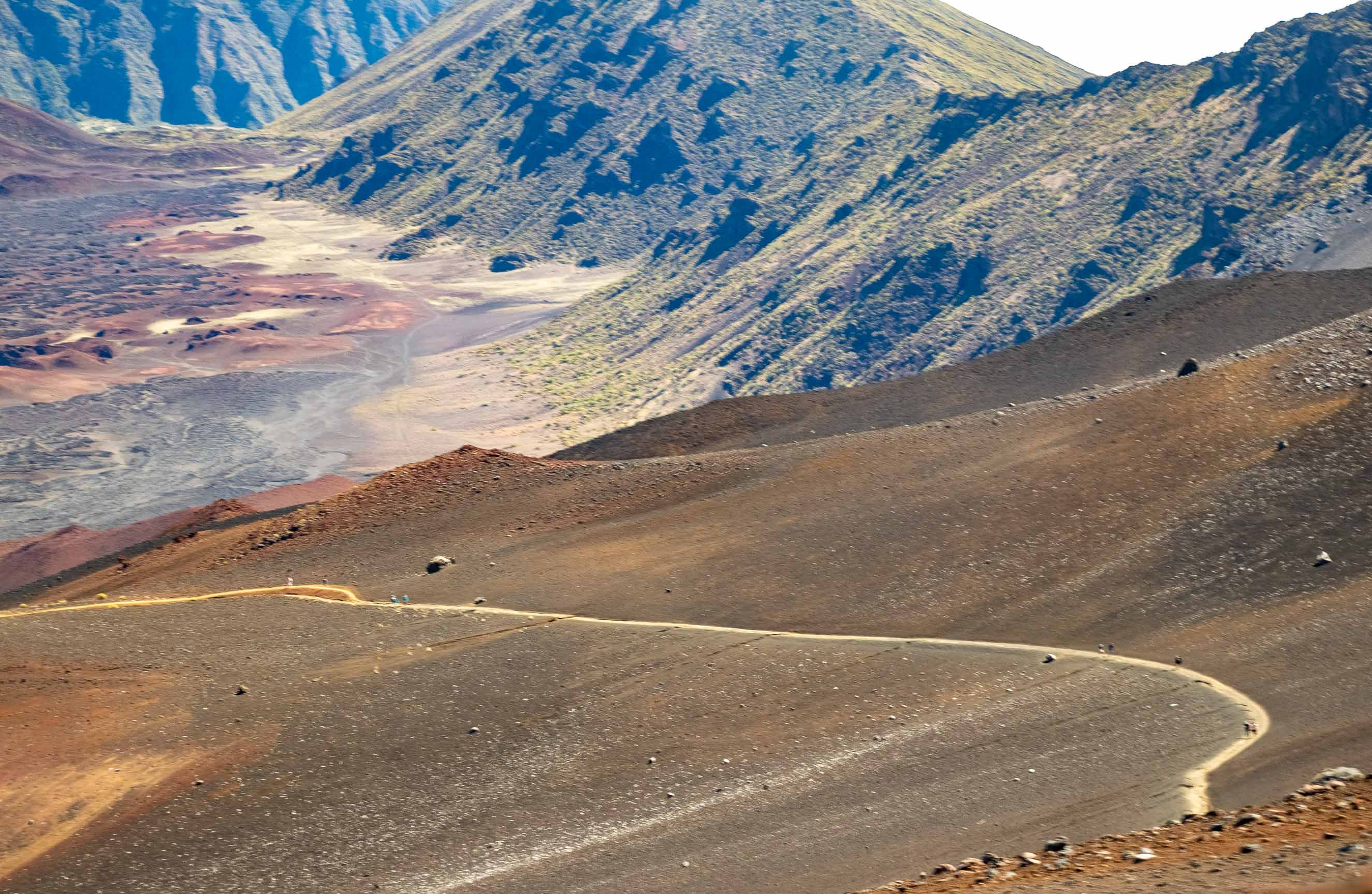 Haleakala Crater Sliding Sands Hiking Trail Maui