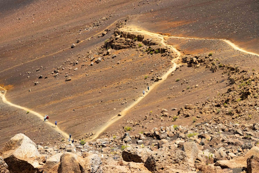 Haleakala Crater Trails Sliding Sands People