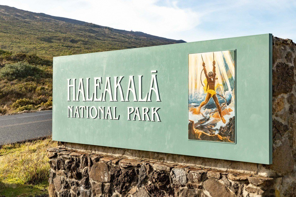 Haleakala Entrance Sign Maui