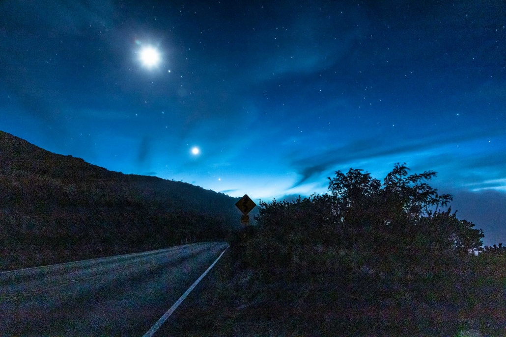 Haleakala Stargazing Crater Road and Moon Maui