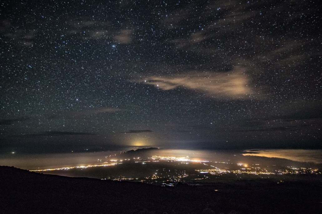 Haleakala Summit Night Sky Stars Maui