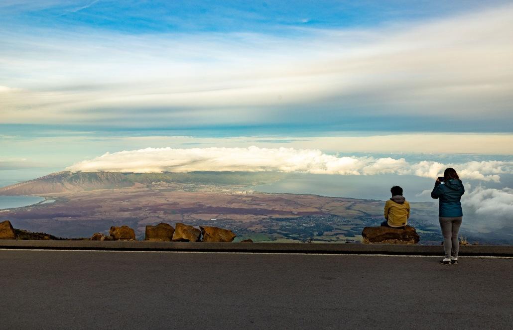 Haleakala Summit Overlook Couple Maui