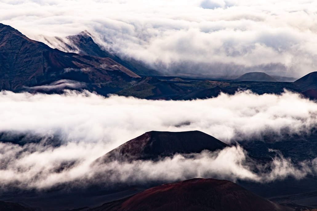 Haleakala Sunrise Crater Clouds and Cinder Cones Maui