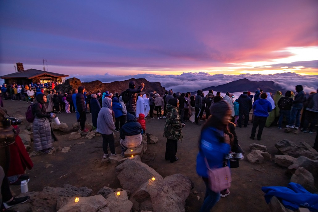 Haleakala Sunrise Crowd and Visitor Center Maui