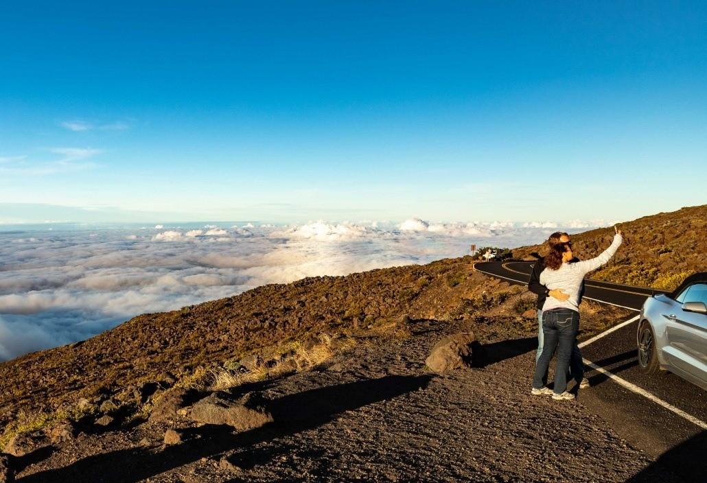Haleakala Sunset Crater Road Visitors Maui