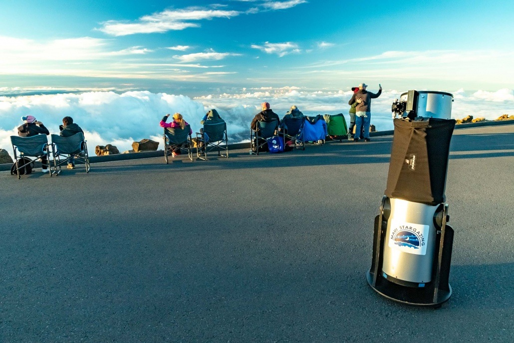 Haleakala Sunset Stargazing Telescope and Visitors Maui
