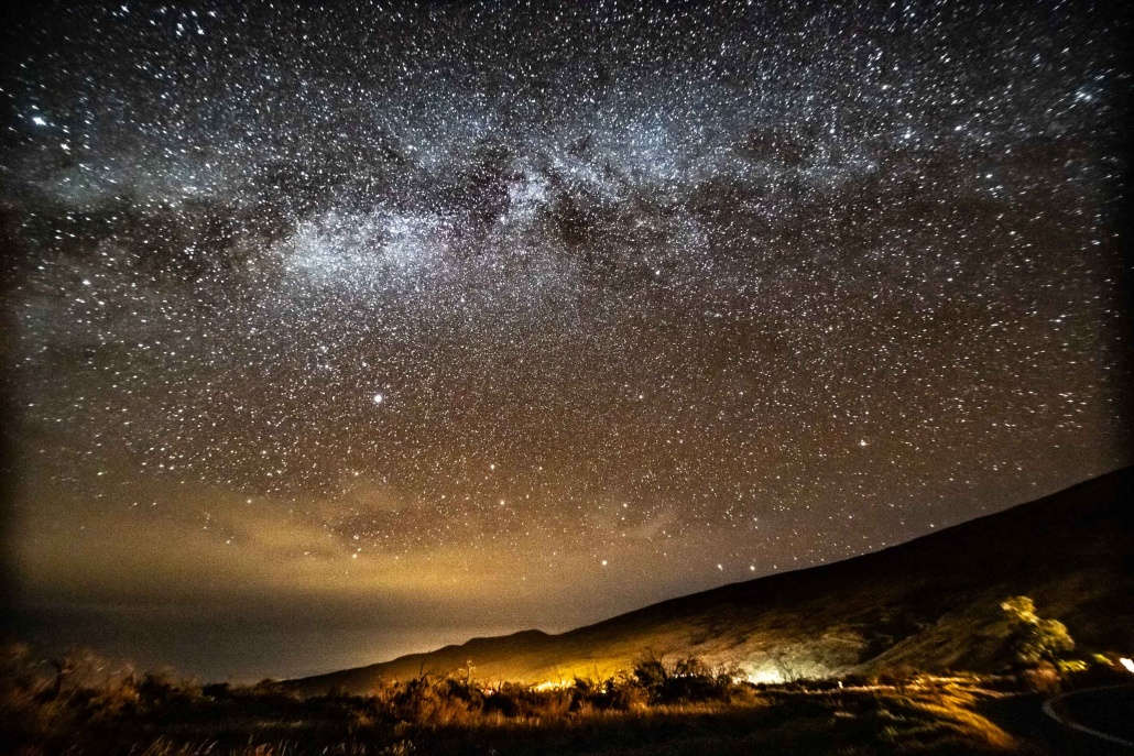 Mauna Kea Star Gazing Night Sky Milky Way Big Island