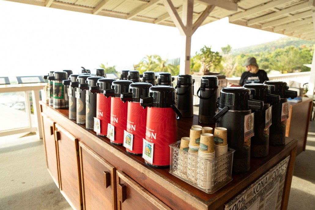 Royal Kona Coffee Tasting Station