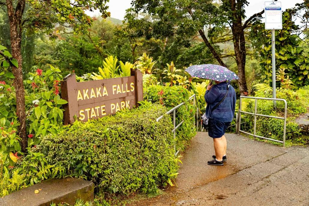 Akaka Falls State Park Sign