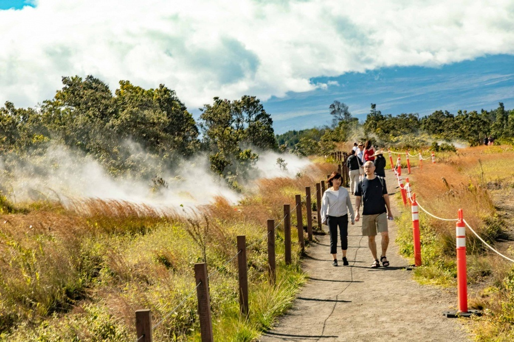 Guests Walking Path at Steam Vents