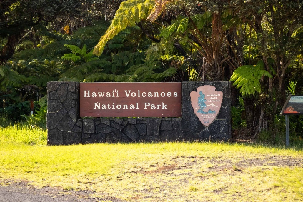 Hawaii Volcanoes National Park Sign
