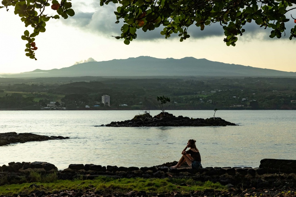 Hilo Bay Woman Thinking