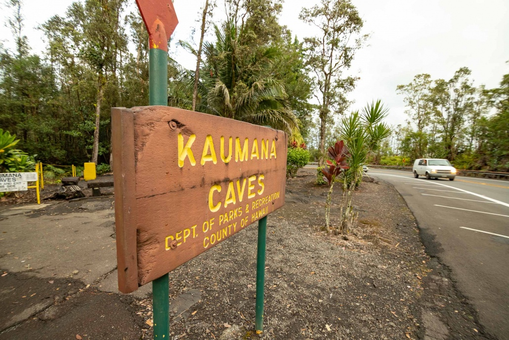Kaumana Caves Sign