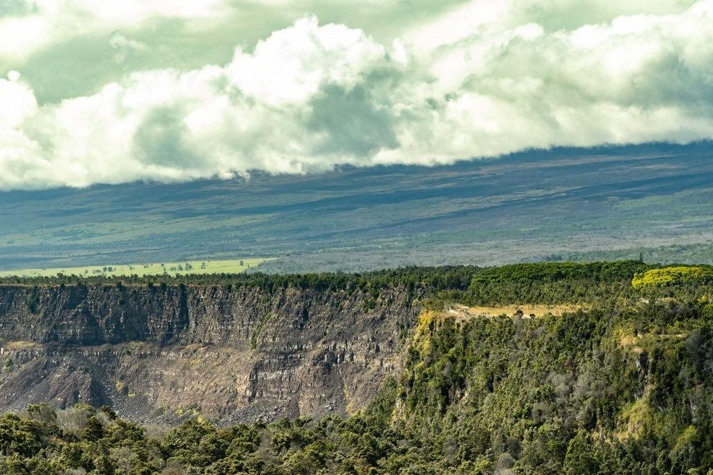 Kilauea Crater Ridge Line