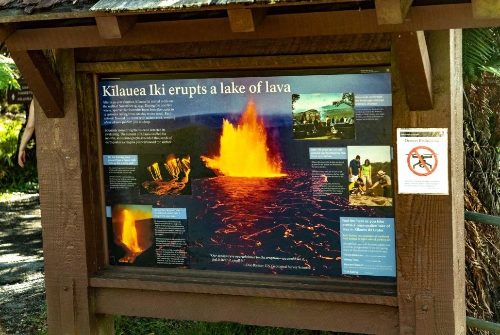Kilauea Iki Sign