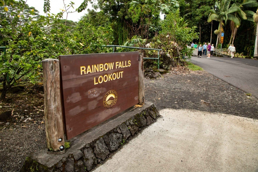 Rainbow Falls Lookout Sign