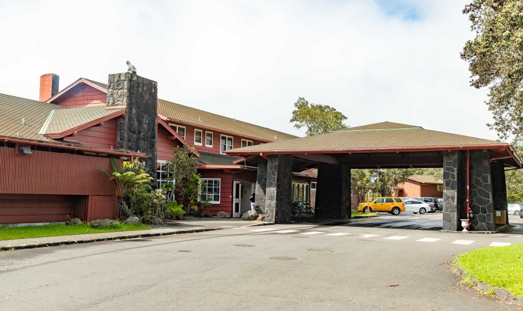 Volcano House Main Entrance Drive