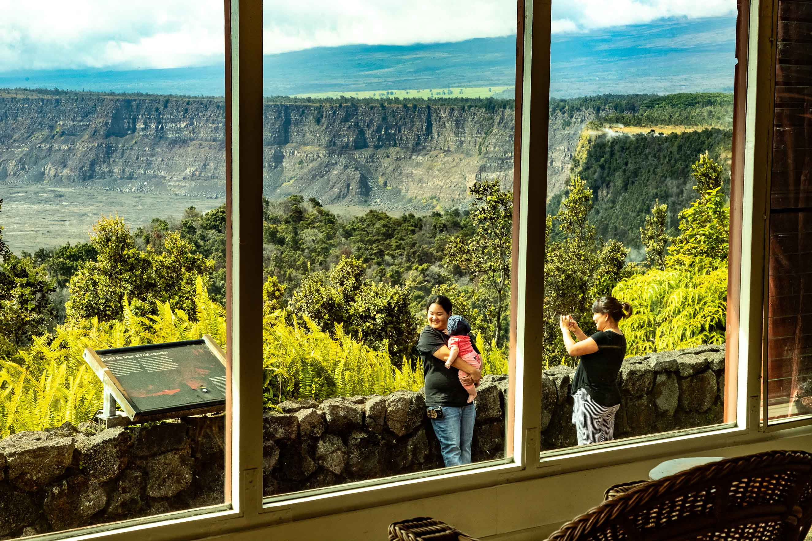 Volcano House View of Kilauea Guests