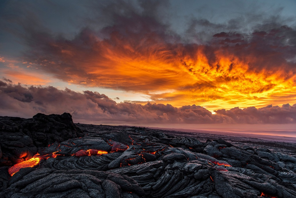 Volcano Hawaii Sunset