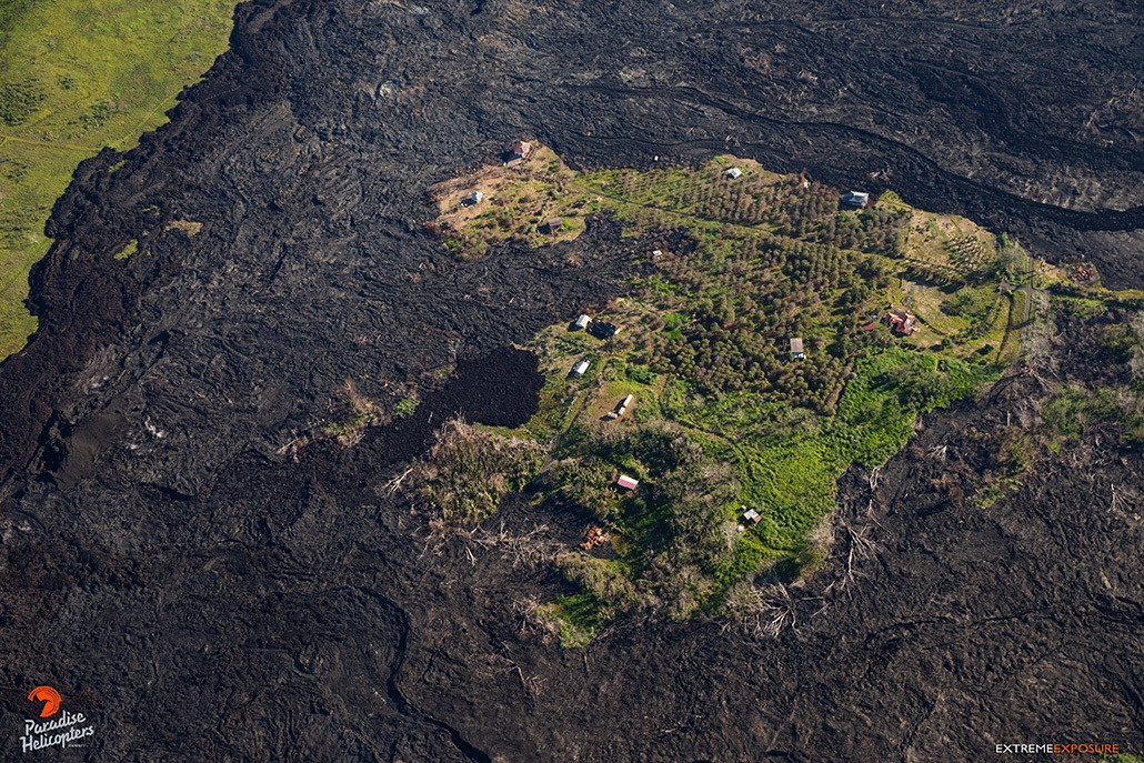 Effects Of Lava Viewed From Sky on Big Island