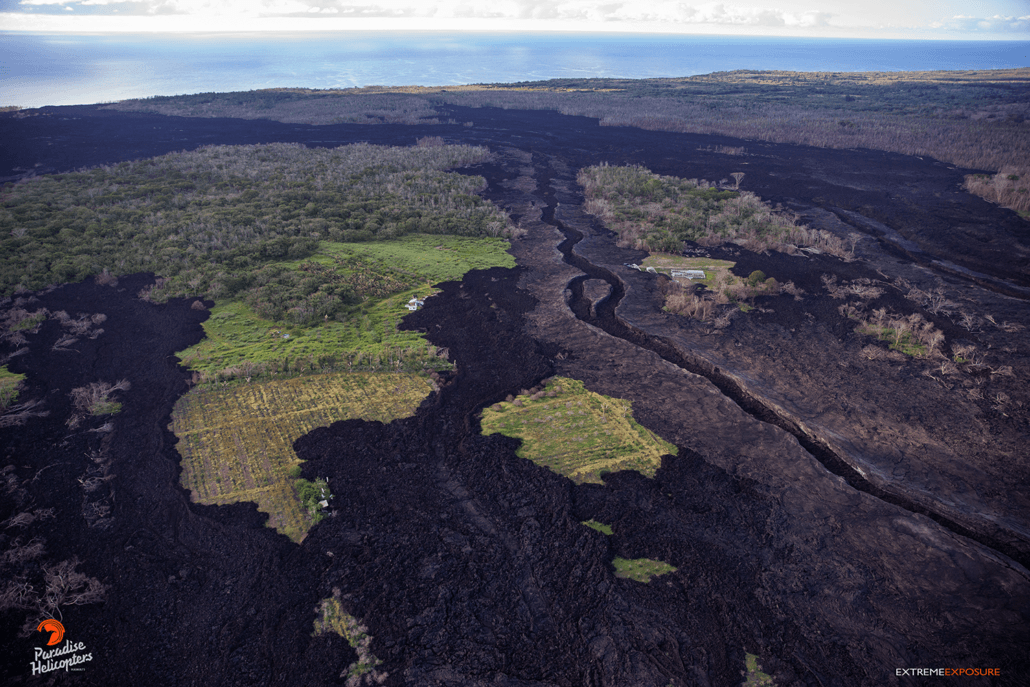 Aerial View of Hawaii Lava & Rainforests