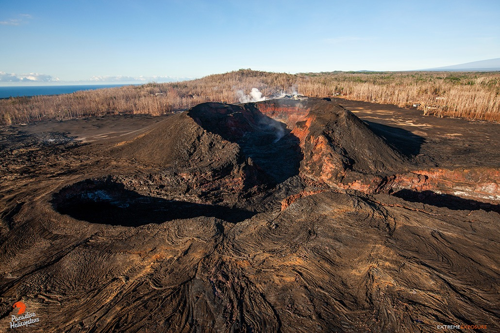 Volcano on Hilo Aerial View