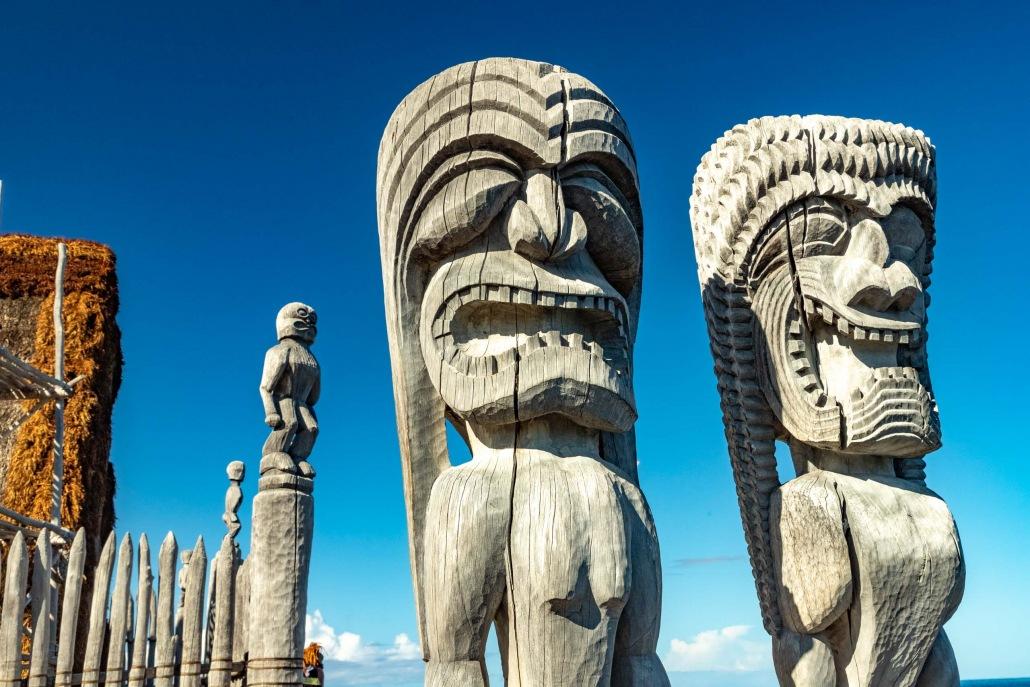 This Hawaiian Heiau (temple) on Kona's south shore is an important and sacred