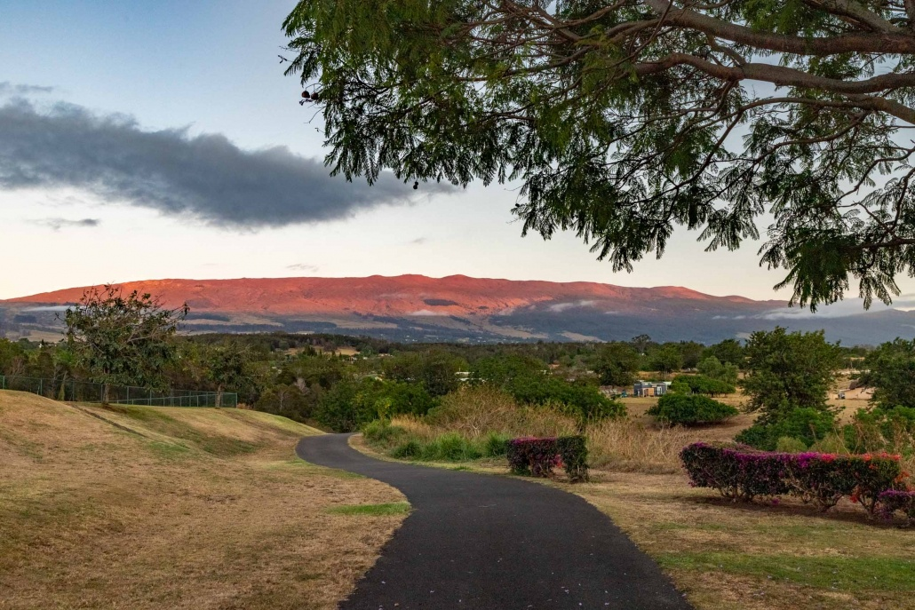 There are beautiful views of Haleakala throughout the town of Pukalani