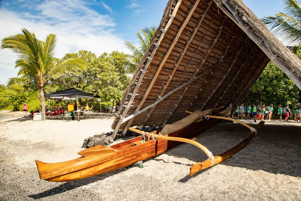 Kaloko-Honokohau National Historical Park Hawaiian Canoe Hale Big Island Hawaii